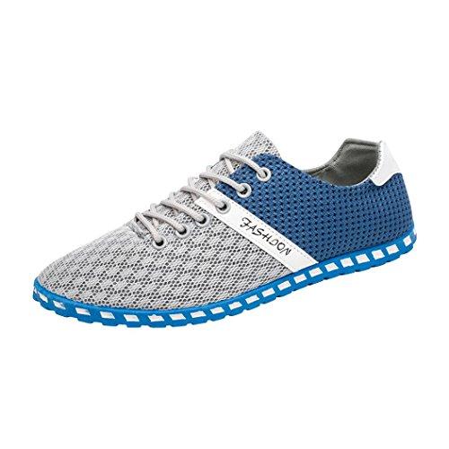 Culater Zapatillas Planos Hombre de Deporte de Moda Mesh Casual Zapatos Transpirables cómodos (EU:43 / CN:44, Gris Claro)