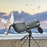 ETE ETMATE 20-75x70 HD Telescopio con trípode, Bolsa de Transporte y Adaptador para teléfono Inteligente - Telescopio BAK 4, para Tiro al Blanco,Caza,observación de Aves, paisajes de Vida Silvestre