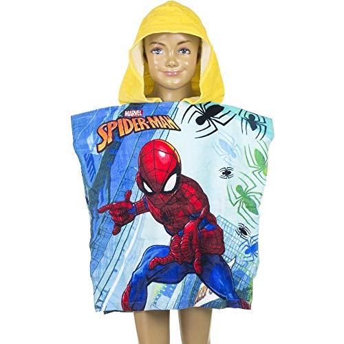 Marvel Spiderman Kids Poncho Towel (Yellow)