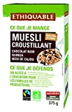 Ethiquable Muesli Crujiente Chocolate, Quinoa, Arroz Bio - 375 gr, paquete de 3