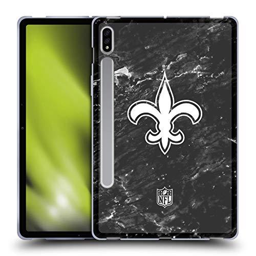 Head Case Designs Licenciado Oficialmente NFL Mármol New Orleans Saints Artwork Carcasa de Gel de Silicona Compatible con Samsung Galaxy Tab S7 5G
