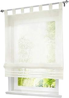 BAILEY JO 1er Pack Estor con Trabillas Cortinas Voile Transparente Cortina, Tela, Beige, BxH 120x155cm