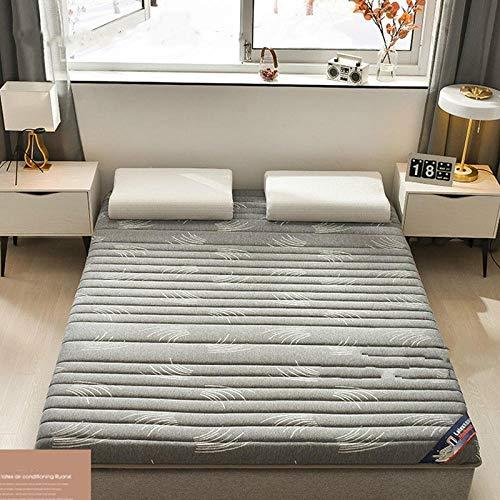fahua Fashion Latex Mattress Folding Mattress for Queen/King/Twin/Full Size Bed Breathe Foam Tatami Mattress Bedroom Furniture-150x200cm_Gray
