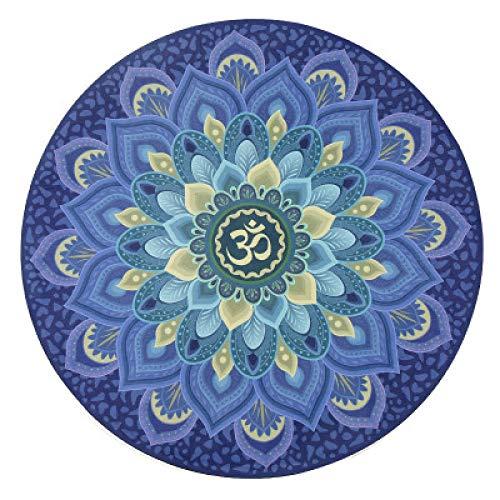 ktynskmx YogamatteYogamatte 3MM rutschfeste Yogamatte Home Meditationsmatte Pilates Matte (60 * 60CM * 3MM), Blau