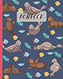 Notebook: Cute Seals - Lined Notebook, Diary, Track, Log & Journal - Gift Idea for Boys Girls Teens Men Women (8'x10' 120 Pages)