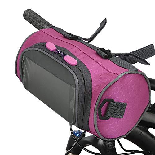 Lixada Bolsa para Manillar de Bicicleta con Pantalla Táctil Impermeable Gran Capacidad Bolsa para Cubo de Bicicleta