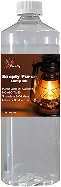 Firefly Candle And Lamp Oil Smokeless Odorless Simply Pure Ultra Clean Burning Liquid Paraffin Fuel Highest Purity Available 32 Oz