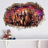 KUIMMA Stickers Muraux Décoration Super-Héros Chambre Murale Chambre d'enfants Avengers Stickers Muraux