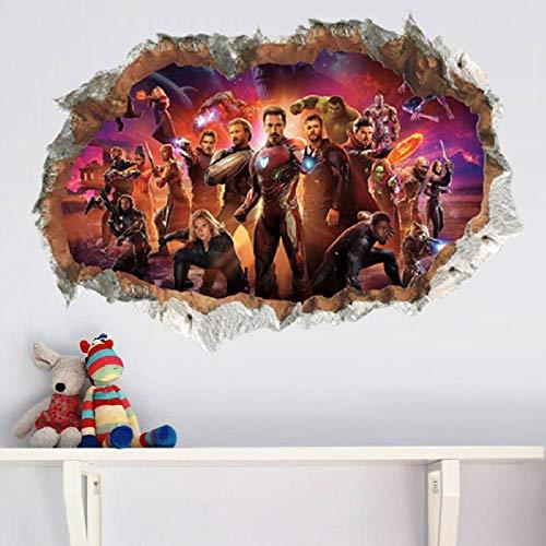 Adhesivo de Pared DecoracióN SuperhéRoe Mural Dormitorio HabitacióN Infantil Avengers Vinilos Decorativos