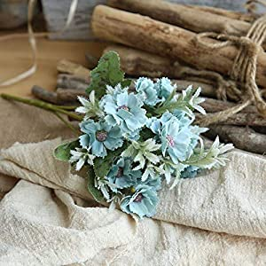 Artificial and Dried Flower Chrysanthemum Artificial Small Daisy Cosmos Artificial Fower Bud Flower Small Wild Chrysanthemum Fake Flower – ( Color: Blue )