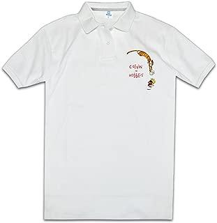 Men Artist Unique Calvin and Hobbes Funny Polo T-Shirt