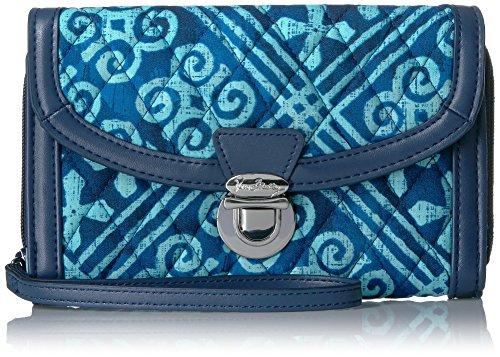 Vera Bradley Damen Ultimate Wristlet Handgelenkriemen, Handtasche, Kubanische Fliesen Navy, Einheitsgröße