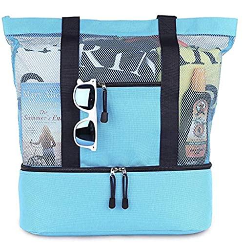 Bolsa de playa de verano grande con bolsa térmica aislada, funda impermeable para teléfono móvil para camping, senderismo, picnic
