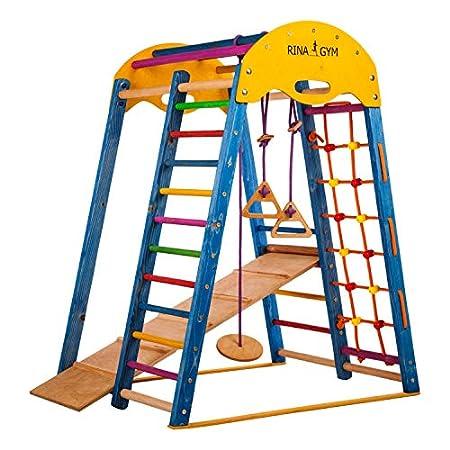 RINAGYM - Indoor-Klettergerüst aus Holz für Kinder