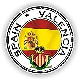 Tiukiu España Valencia Seal calcomanía Redonda Bandera para portátil Libro Nevera Guitarra Casco Caja de Herramientas Puerta PC Barco