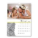 Fotoprix Calendario 2022 pared personalizado con tus fotos | Varios Diseños y Tamaños Disponibles | Calendario con mandalas y dibujos para pintar | Tamaño: A3 (29,7 x 42 cms)