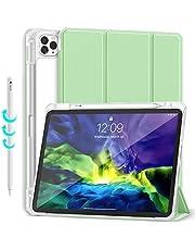 Gahwa Funda para iPad Pro 11 Pulgadas 2020 y 2018, Carcasa Ligera con Soporte Función con Segunda Generación Pencil, Smart Case Cover con Función de Auto-Sueño/Estela - Verde Claro