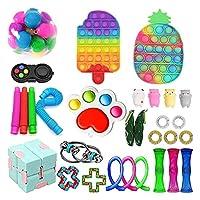 30pcs安い感覚のフィジットのおもちゃの玩具、フィジットパック官能は子供の大人のためのストレス不安指の玩具を和らげます、誕生日パーティーの恩恵のための特別な玩具の品揃え (Color : D-30 Pack)