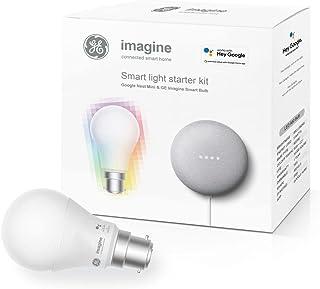 Beacon Lighting GE Imagine Starter Kit BC Globe + Google Nest Mini
