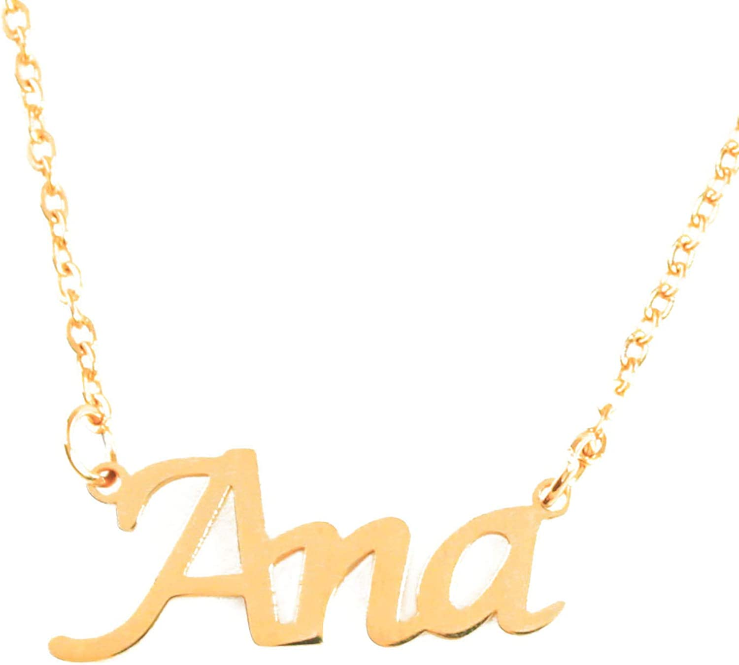 Max 81% OFF ANA Custom Name Necklace Personalized - Japan's largest assortment Plated 18ct Gold