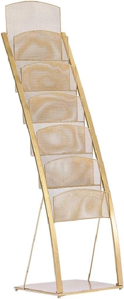 Sale item BKCC Iron Magazine Storage Rack Newspaper Multi-Layer for Max 43% OFF