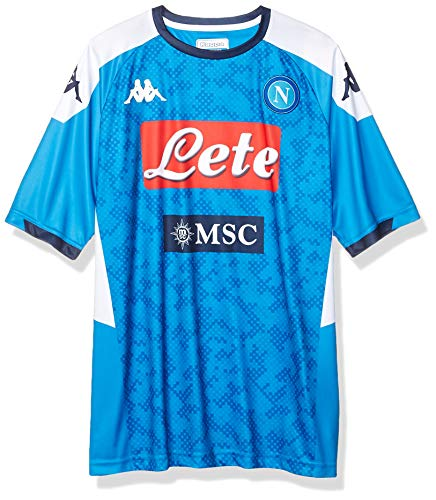 Ssc Napoli Italian Serie A Men's Replica Home Match Shirt, SkyBlue, M