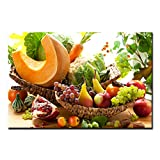 Colorful Various Vegetables and Fruit Wall Art Painting The Picture Print On Canvas Food Pictures for Home Decor Decoration Gift