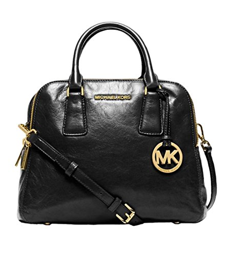 Michael Kors Alexis Medium Satchel Black Leather
