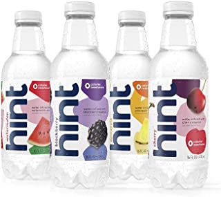 Hint Fruit Infused Water, Variety Pack, Cherry, Watermelon, Pineapple, Blackberry, 16 oz (12 Pack)