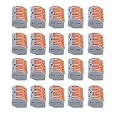 Jeanoko Buen Rendimiento de conducción Conector de cableado de Terminal de 20 Piezas Conector de Cable Un Orificio de Prueba Universal Práctico Mano de Obra Exquisita para Campos industriales