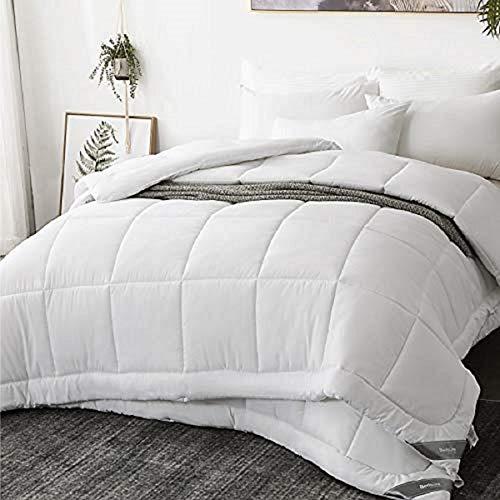 Bedsure Piumino Matrimoniale Estivo Bianco 250 X 200 Cm - Piumone Letto Matrimoniale Leggero Morbido Anallergico Certificato Oeko-Tex