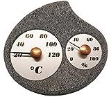 Hukka Design Maininki Sauna Hygro-Thermometer Luftfeuchtigkeit. Made in Finnland. Saunathermometer tolles Saunazubehör