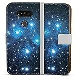DeinDesign Étui Compatible avec LG G5 Étui Folio Étui magnétique Pléiades Espace Cosmos