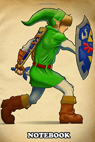 Notebook: The Legend Of Zelda Ocarina Of Tim The Hero Of Time , Journal for Writing, College Ruled Size 6