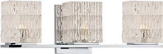 Hudson Valley 6243-PC, Torrington Glass Wall Vanity Lighting, 3 Light Halogen, Chrome