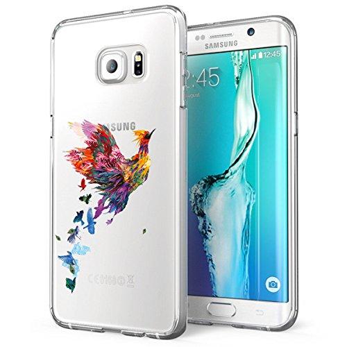 AIsoar Cover per Galaxy S7 Trasparente Morbida Sottile TPU Cover Panda Lupo Cactus Galaxy S7 Cover Silicone Bumper Morbida Crystal Clear Custodia Nero per Samsung Galaxy S7 (Fenice)