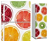 DON LETRA Vinilo Adhesivo para Nevera Fricorífico, Frutas, 200 x 70 cm