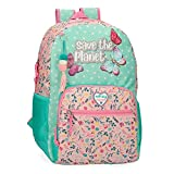 Movom Save The Planet Mochila Escolar Multicolor 33x45x17 cms Poliéster Reciclado 25.25L