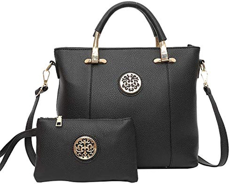 0e4734439d9d7 BAG 2Pc Set Fashion Frauen Frauen Frauen Totes Dame Handtasche Frauen  Schultertasche + Geldb ouml rse Brieftasche Gro szlig e Umh auml ngetaschen  Kit ...