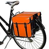 BikyBag - Doble Alforjas para Bicicletas Impermeables (Naranja)