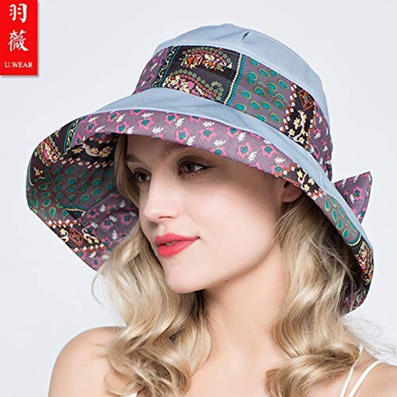 Chuiqingnet Travel travel ladies sun hat sun hat summer cool hat sun hat printing sun hat adjustable