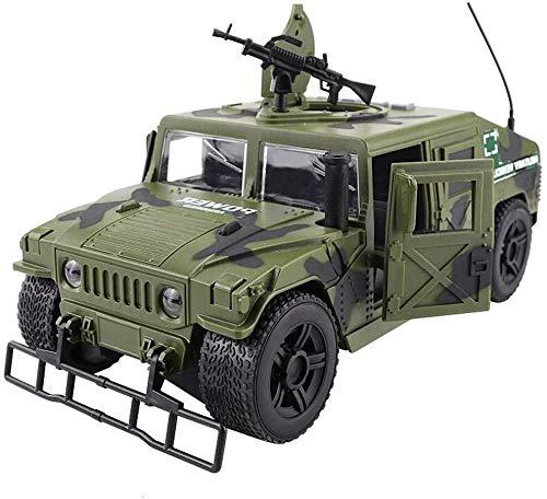 DJXWZX Con blindados de sonido y el ejército Vehículo militar ligero Pullback transportador de automóviles adultos regalo de los niños chicos (Color: Verde) 1:16 Radio Controlados modelos de metal de