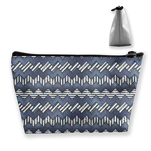 Pinakoli - Bolsa de maquillaje de tela vaquera para bolso de viaje de maquillaje, mini bolsa de cosméticos para mujeres y niñas