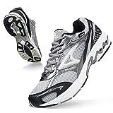 ASHION Men's Non Slip Work Tennis Mesh Resistant Sneakers Excursion Lightweight Breathable Athletic...