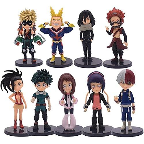 Figurine My Hero Academia, 9 Pièces Anime Figurine Statue Ornements Figurine Articulée Anime Collection Modèle