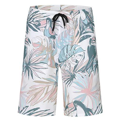 Firedancekid Zwembroek voor heren, strand, zomer, vakantie, Hawaii, sneldrogend, zwembroek, zwempak, zwemshorts met verstelbare trekkoord, zakken, zonder binnenslip