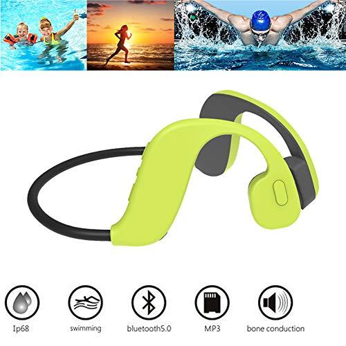 RSGK Cuffie da Nuoto a Conduzione Ossea Bluetooth 5.0, Memoria 8G Integrata, Utilizzate per La Palestra, Immersioni Subacquee, Lettore MP3 Impermeabile IP68
