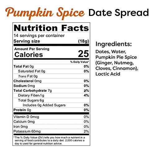 Wanna Date? Pumpkin Spice Date Spread, Vegan, Paleo Friendly, Gluten-Free, Dairy-Free, Non-GMO, No Added Sugar, No Cane Sugar, Whole30, Healthy Sugar Substitute, Sugar Free Alternative (2 Jars)