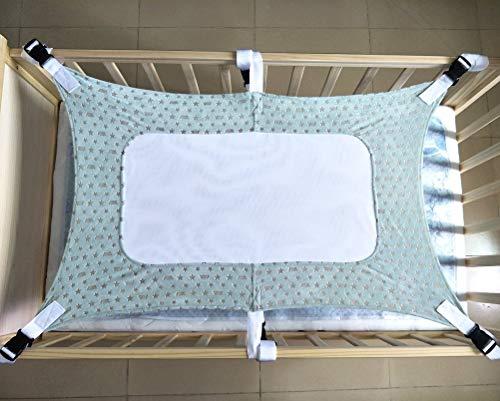 Baby-Hängematte für Wiege, robustes Material, für Neugeborene, Sicherheits-Hängematte mit drei Schichten atmungsaktivem Netz und sechs Gurten