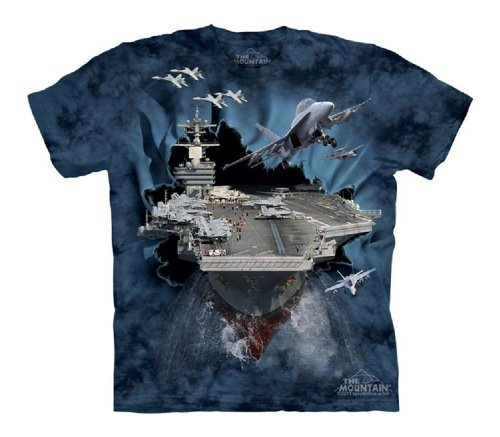 The Mountain Aircraft Carrier Bt Child T-Shirt, Blue, Large